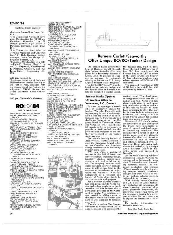 Maritime Reporter Magazine, page 34,  Apr 15, 1984