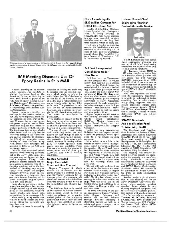 Maritime Reporter Magazine, page 36,  Apr 15, 1984