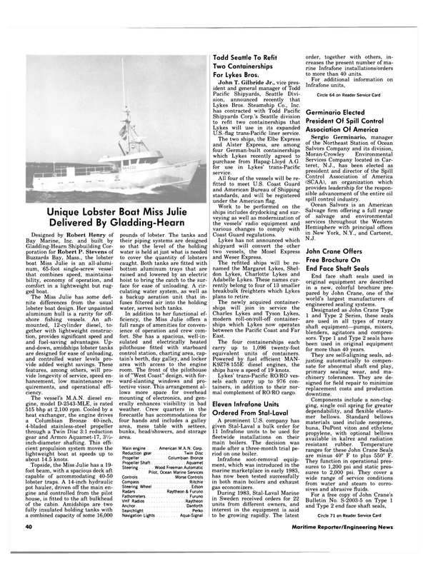 Maritime Reporter Magazine, page 38,  Apr 15, 1984 West Coast