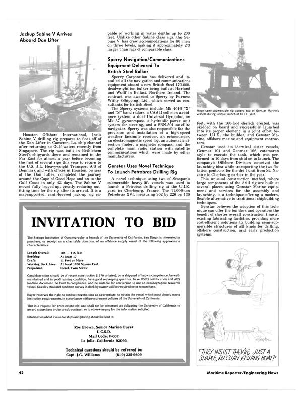 Maritime Reporter Magazine, page 40,  Apr 15, 1984 Gulf coast