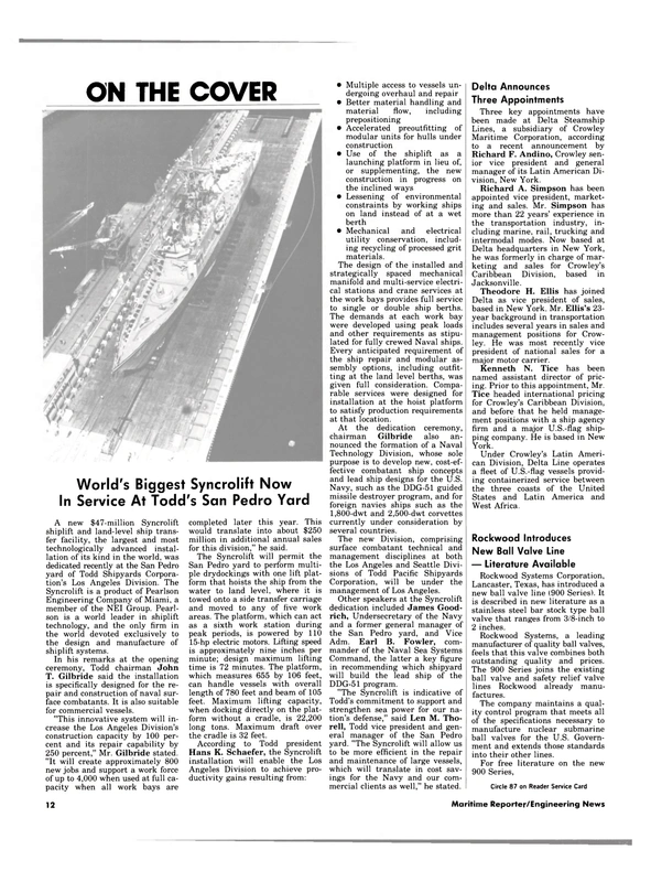 Maritime Reporter Magazine, page 10,  May 1984