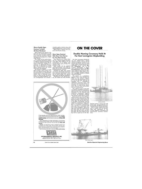 Maritime Reporter Magazine, page 8,  May 15, 1984 F.I. Potapenko