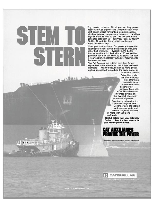 Maritime Reporter Magazine, page 23,  Jul 1984