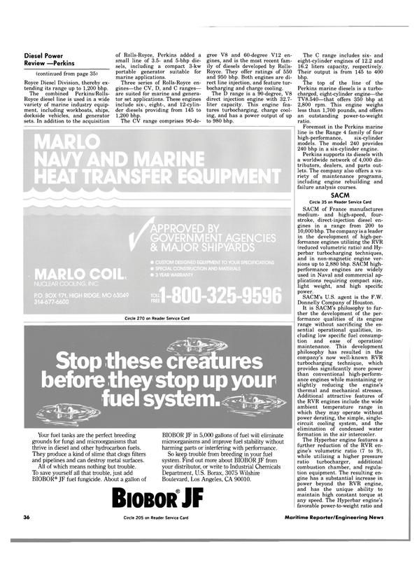 Maritime Reporter Magazine, page 34,  Jul 1984