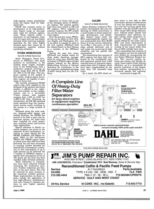 Maritime Reporter Magazine, page 35,  Jul 1984