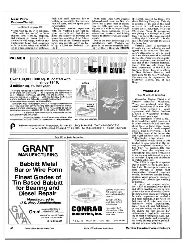 Maritime Reporter Magazine, page 38,  Jul 1984 Swift