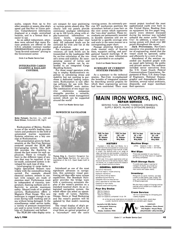 Maritime Reporter Magazine, page 41,  Jul 1984 Wayne Piazza