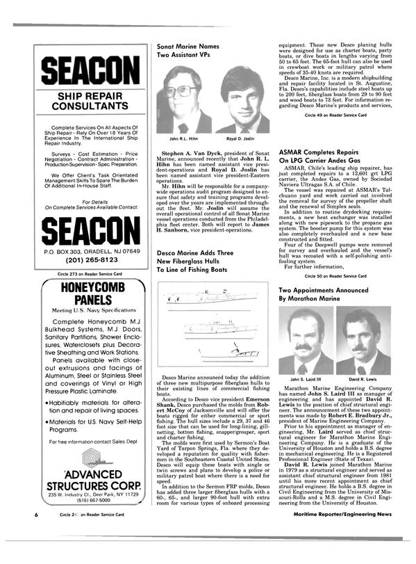 Maritime Reporter Magazine, page 4,  Jul 1984