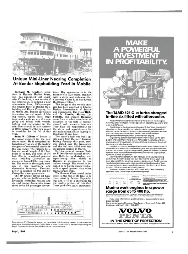 Maritime Reporter Magazine, page 5,  Jul 1984
