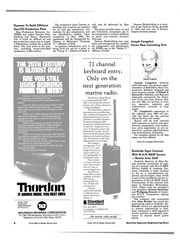 Maritime Reporter Magazine, page 6,  Jul 1984