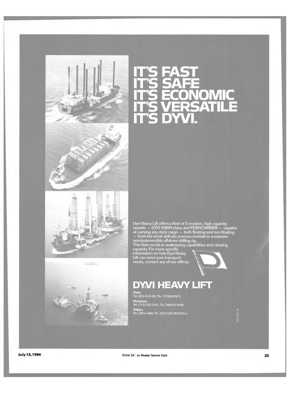 Maritime Reporter Magazine, page 23,  Jul 15, 1984