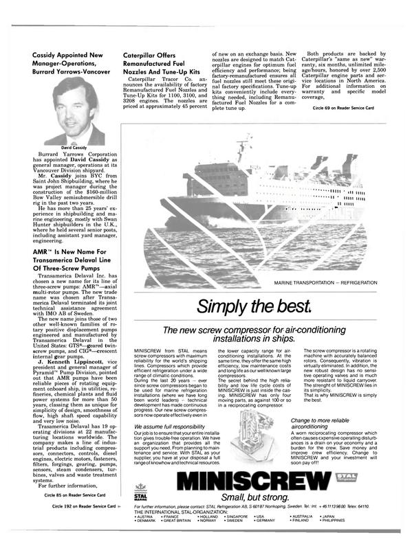Maritime Reporter Magazine, page 35,  Jul 15, 1984