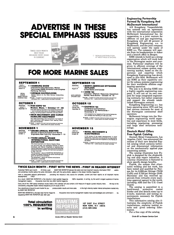 Maritime Reporter Magazine, page 4,  Jul 15, 1984