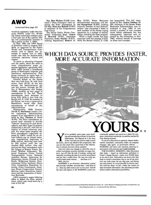 Maritime Reporter Magazine, page 20,  Aug 1984 Gene Snyder