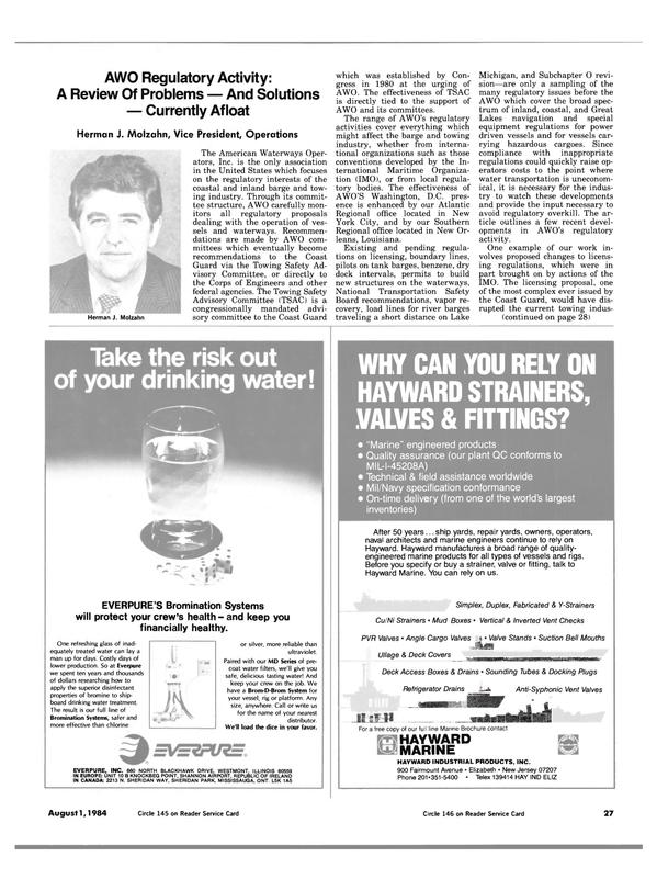 Maritime Reporter Magazine, page 25,  Aug 1984 Louisiana