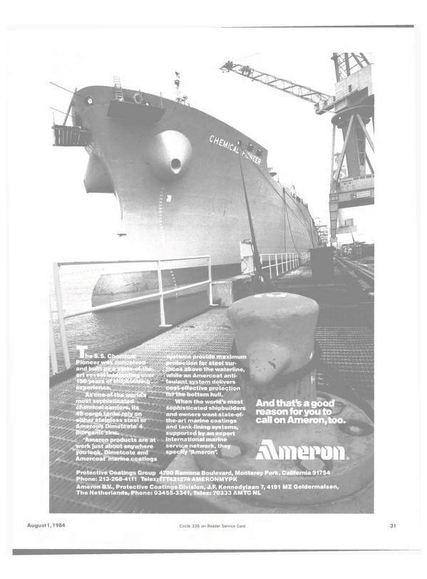 Maritime Reporter Magazine, page 29,  Aug 1984