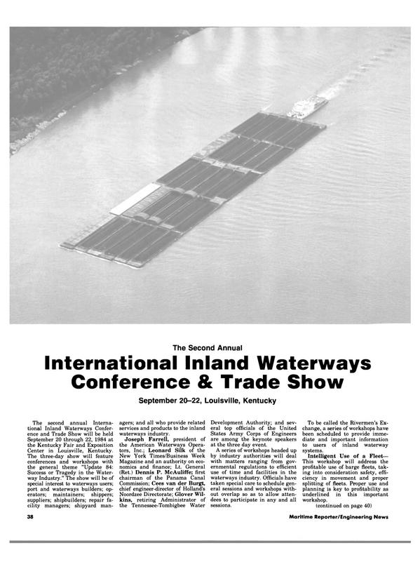 Maritime Reporter Magazine, page 36,  Aug 1984
