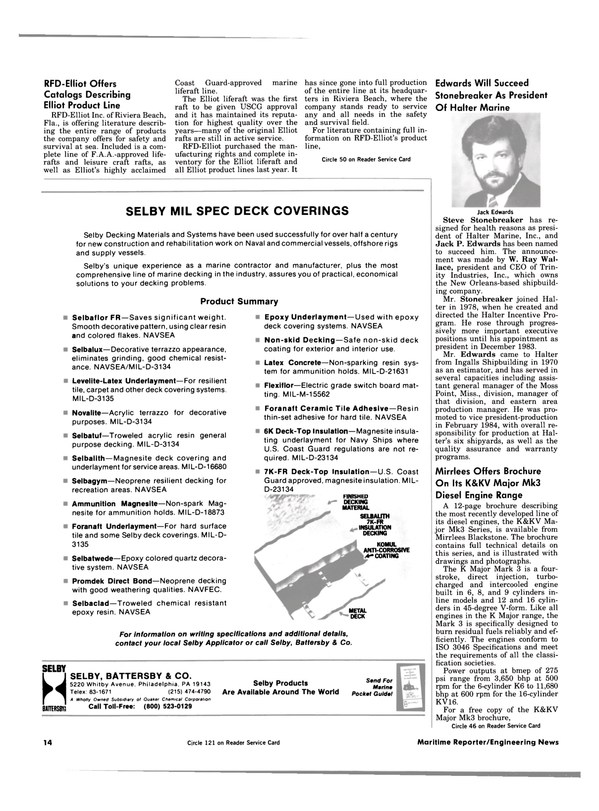 Maritime Reporter Magazine, page 12,  Aug 15, 1984