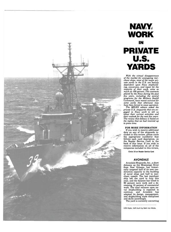 Maritime Reporter Magazine, page 18,  Aug 15, 1984