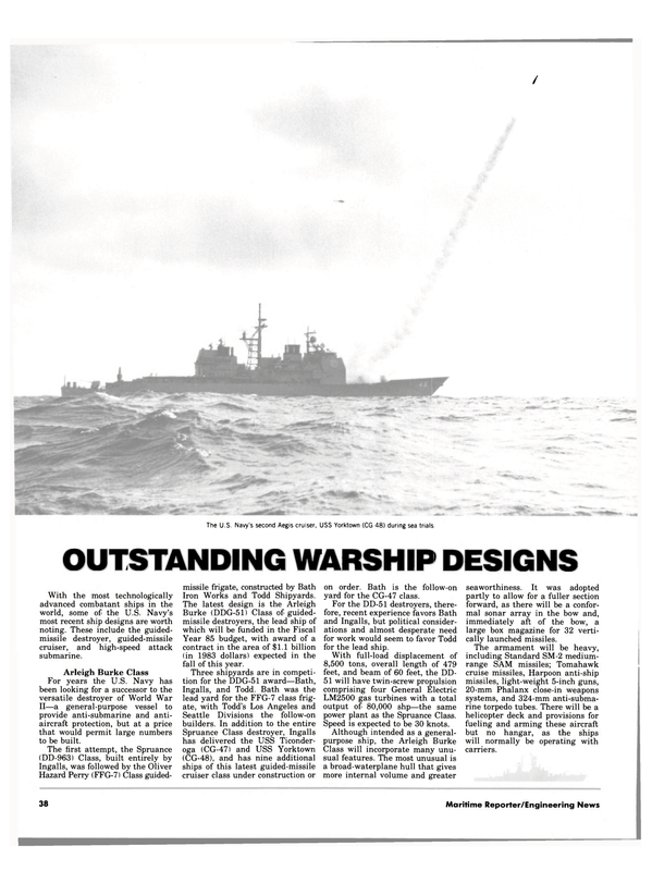 Maritime Reporter Magazine, page 36,  Aug 15, 1984 close-in weapons systems