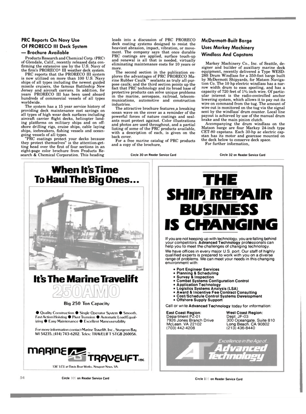 Maritime Reporter Magazine, page 52,  Aug 15, 1984 deck coating systems
