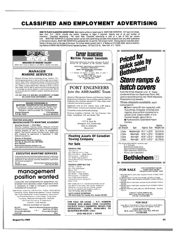 Maritime Reporter Magazine, page 53,  Aug 15, 1984 California