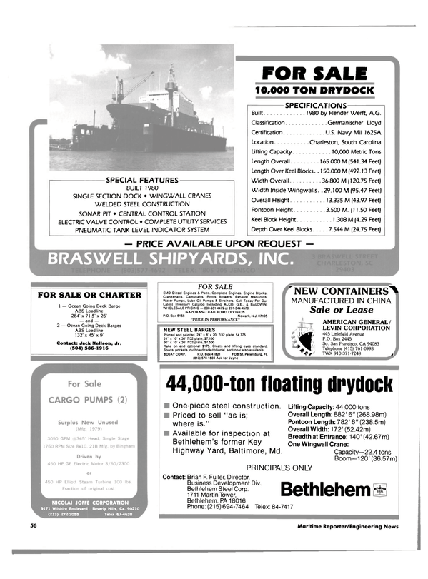 Maritime Reporter Magazine, page 54,  Aug 15, 1984