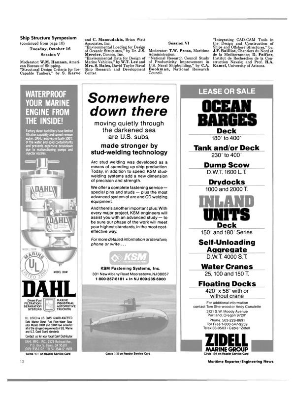 Maritime Reporter Magazine, page 10,  Oct 1984 New Jersey