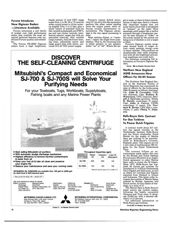 Maritime Reporter Magazine, page 14,  Oct 1984 Massachusetts