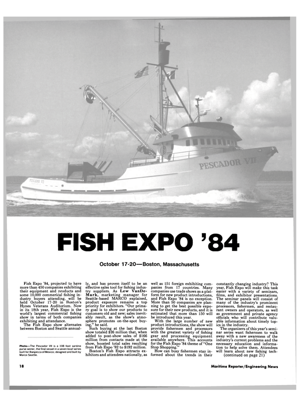 Maritime Reporter Magazine, page 16,  Oct 1984 Mark