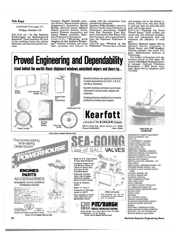 Maritime Reporter Magazine, page 22,  Oct 1984 Florida