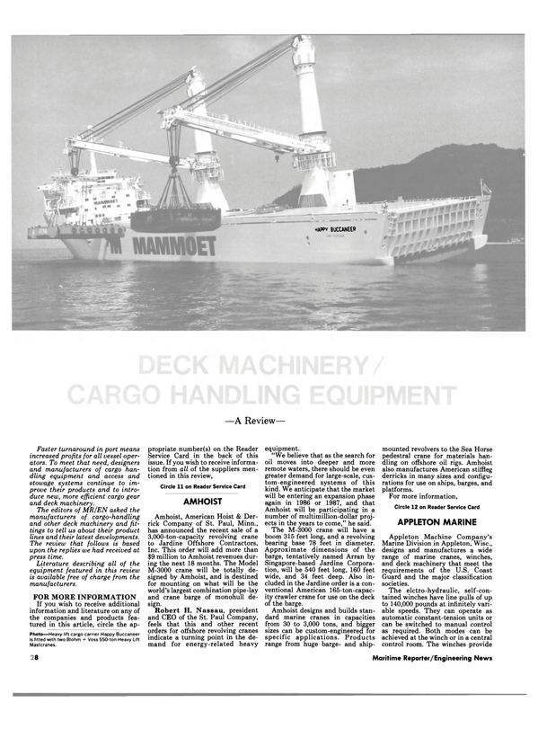 Maritime Reporter Magazine, page 28,  Oct 1984
