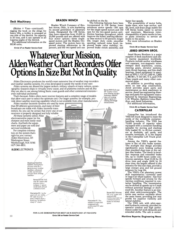 Maritime Reporter Magazine, page 32,  Oct 1984 Whatever Your Mission