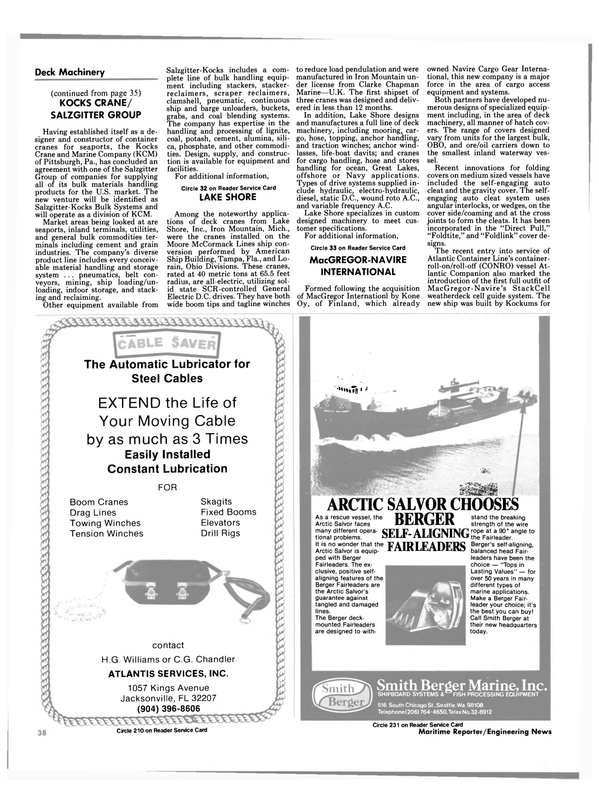 Maritime Reporter Magazine, page 40,  Oct 1984 Pennsylvania