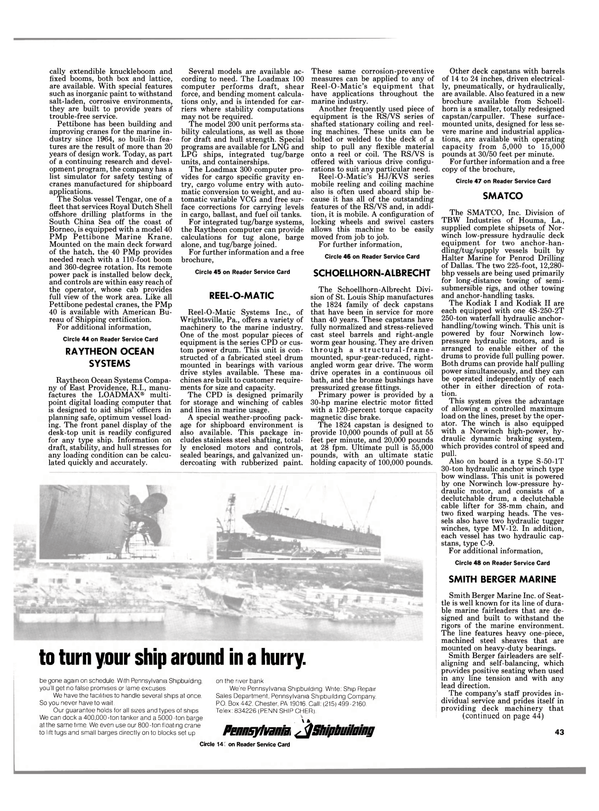 Maritime Reporter Magazine, page 45,  Oct 1984 S-50