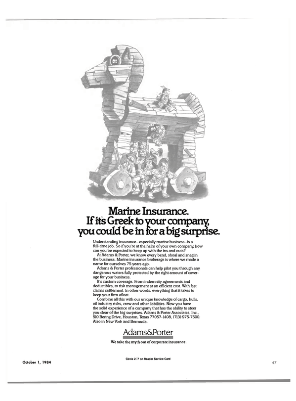 Maritime Reporter Magazine, page 49,  Oct 1984 Marine insurance brokerage