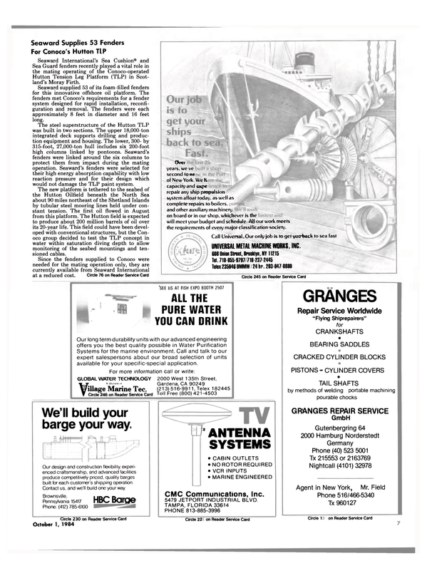 Maritime Reporter Magazine, page 5,  Oct 1984 Pennsylvania