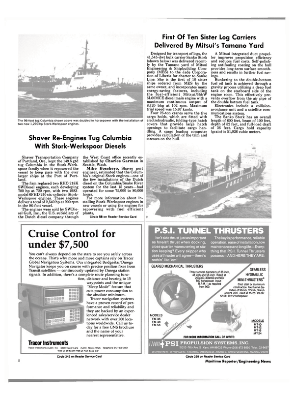 Maritime Reporter Magazine, page 6,  Oct 1984 Washington