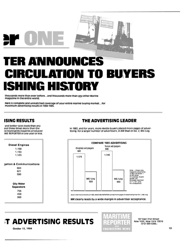 Maritime Reporter Magazine, page 11,  Oct 15, 1984 media buyers