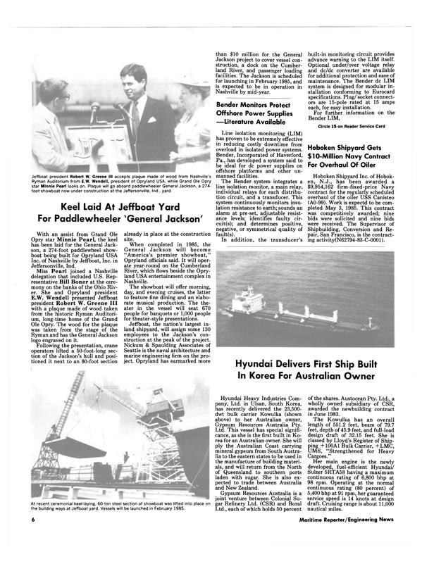 Maritime Reporter Magazine, page 4,  Oct 15, 1984
