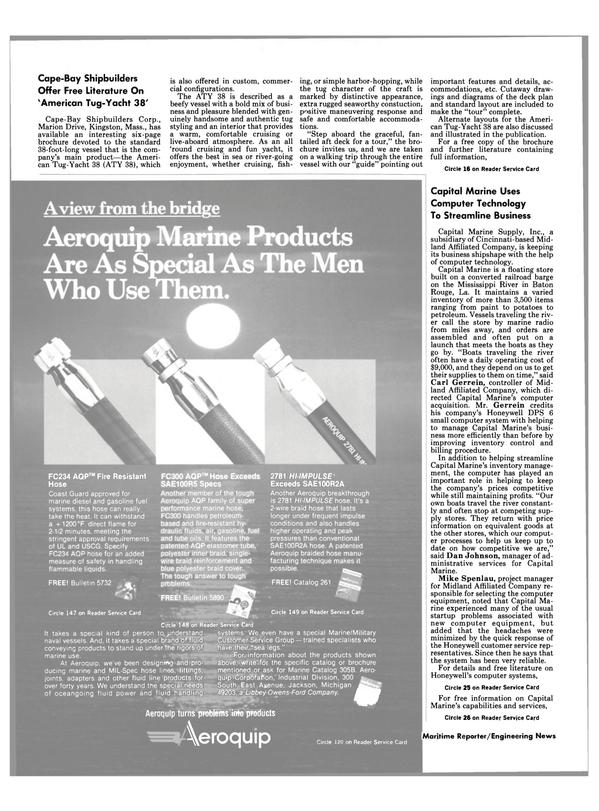 Maritime Reporter Magazine, page 6,  Oct 15, 1984 Louisiana