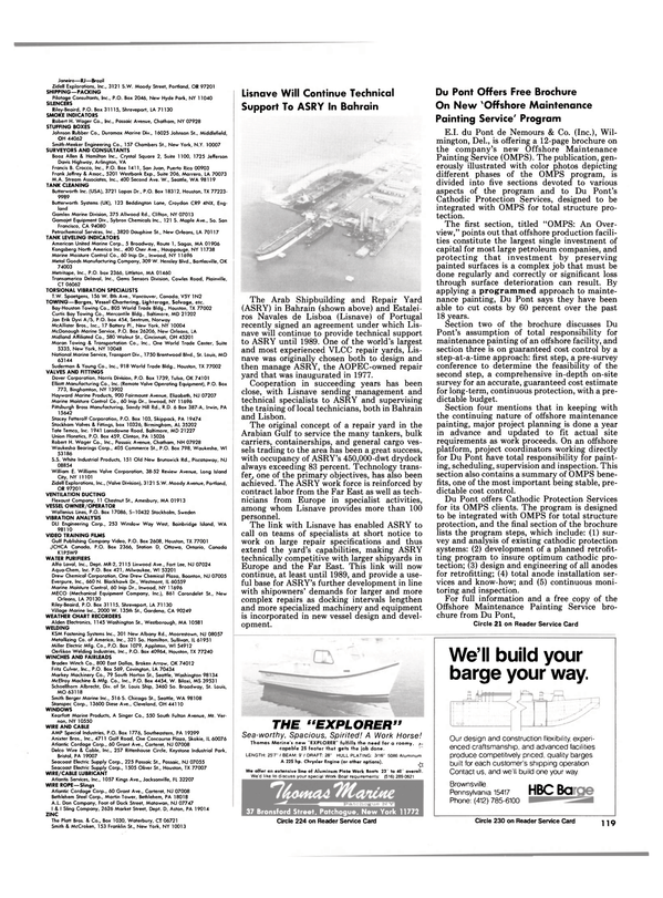 Maritime Reporter Magazine, page 113,  Nov 1984