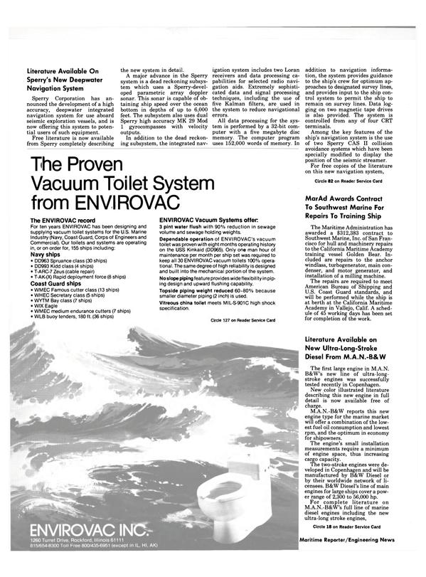 Maritime Reporter Magazine, page 12,  Nov 1984