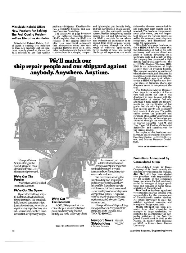 Maritime Reporter Magazine, page 14,  Nov 1984