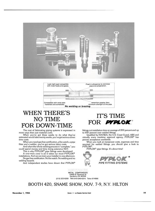 Maritime Reporter Magazine, page 15,  Nov 1984