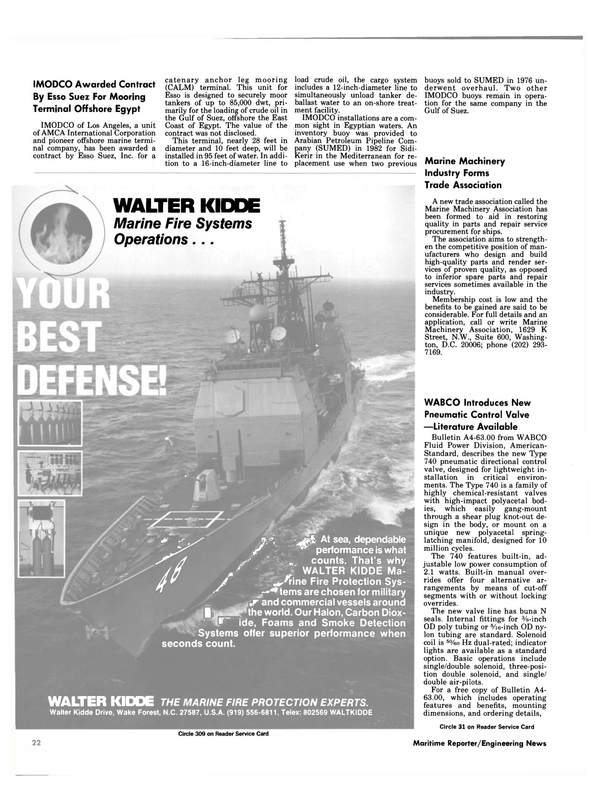 Maritime Reporter Magazine, page 18,  Nov 1984