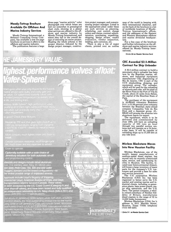 Maritime Reporter Magazine, page 20,  Nov 1984