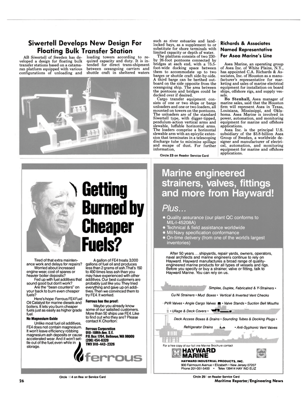 Maritime Reporter Magazine, page 22,  Nov 1984