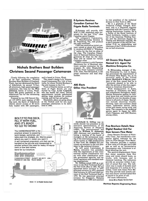 Maritime Reporter Magazine, page 24,  Nov 1984