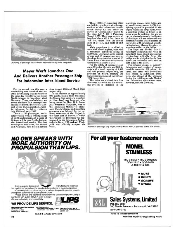 Maritime Reporter Magazine, page 28,  Nov 1984